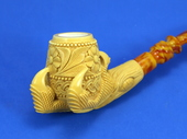 SMS Meerschaums - Decorated Claw by Tekin (007)