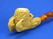 SMS Meerschaums - Decorated Claw by Tekin (010)